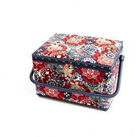 Sewing box size L - Victoria - red