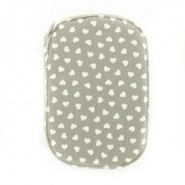 Sewing kit  sweet heart - grey