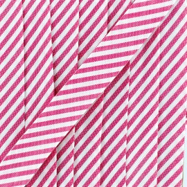 Large stripe bias binding 30mm - grenadine