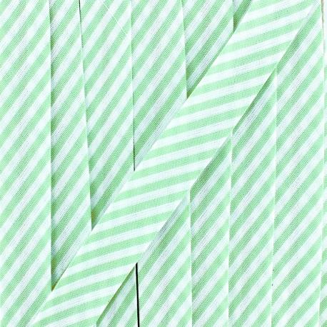 Biais grande rayure - vert clair x 1m