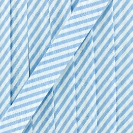 Biais grande rayure - bleu ciel x 1m