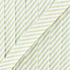 Large stripe bias binding - sky blue x 1m