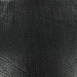 Halliday punched flexible imitation leather - black x 10cm