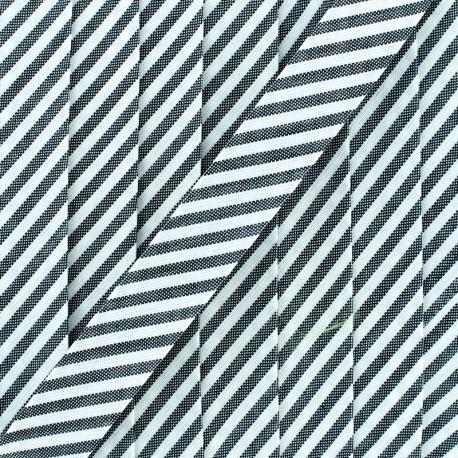 Biais grande rayure - anthracite x 1m