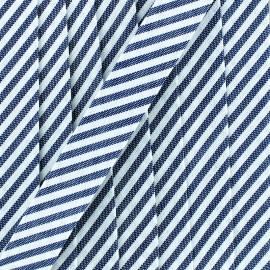 Large stripe bias binding - anthracite x 1m