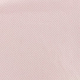 Tissu Oeko-Tex coton Poppy Square - blanc/rose x 10cm