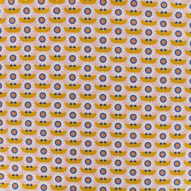 Poppy Fabric  Dazzling daisy  - orange/pink x 10cm