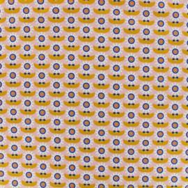 Tissu Oeko-Tex coton Poppy Dazzling daisy - orange/rose x 10cm