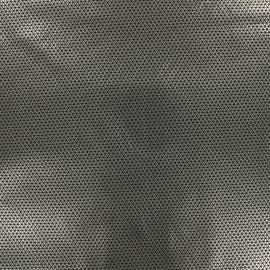Tissu toile parachute Imany - triangle argent et noir x 10cm