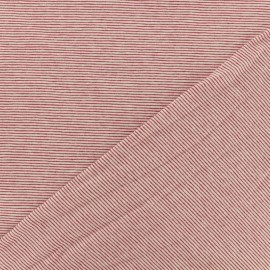 Bateau mini Stripes jersey fabric  - red x 10cm