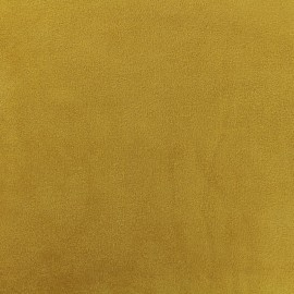 Fourrure mouton réversible aspect suédine Soft - moutarde x 10cm