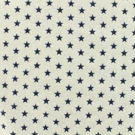 Oeko-Tex Poppy cotton Fabric navy stars - white background x 10cm