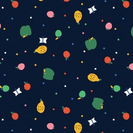 Cotton Dashwood fabric - an apple a day x 10cm
