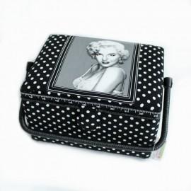 Boîte à couture Marilyn Taille L - noir