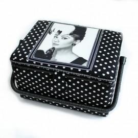 Boîte à couture Audrey Taille M - noir