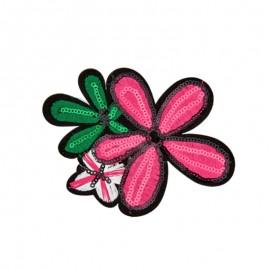 Thermocollant Fleur de l'été - fuchsia