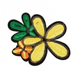 Thermocollant Fleur de l'été - jaune