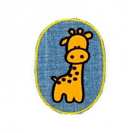 Thermocollant girafe sur jean