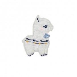 Thermocollant bébé lama A - gris chiné