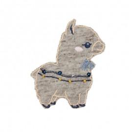 Thermocollant bébé lama A - taupe chiné