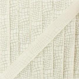 Ruban lurex Reptile (15 mm) - crème x 1m