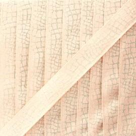 Ruban lurex Reptile (15 mm) - nude x 1m