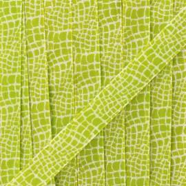 Ruban lurex Reptile (15 mm) - vert x 1m