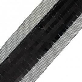Galon paillette métallisé Futuro - noir x 50cm