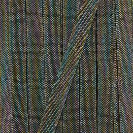 20 mm stripe grosgrain ribbon Maja - white/gold x 1m