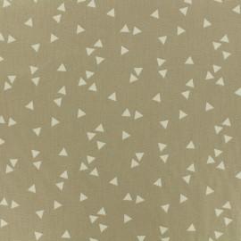 Tissu Oeko-Tex coton Poppy Triangle - blanc/beige x 10cm