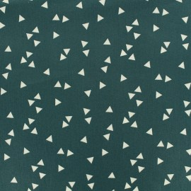 Tissu Oeko-Tex coton Poppy Triangle - blanc/eucalyptus x 10cm