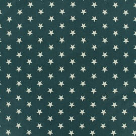 Poppy cotton Fabric - Eucalyptus white star x 10cm