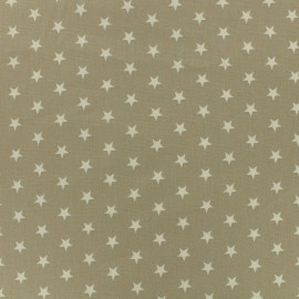 Poppy cotton Fabric - sand white star x 10cm