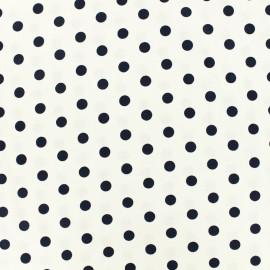 Cotton Fabric pois 7 mm - white/night x 10cm