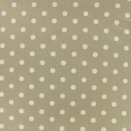 Cotton Fabric pois 7 mm - white/sand x 10cm