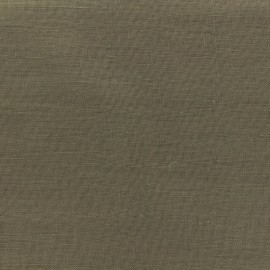 Tissu voilage poly lin Art Lino spécial rideaux - chocolat x 10cm