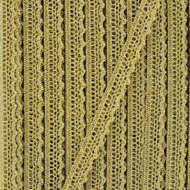 10 mm metallic aspect lace ribbon - gold x 1m