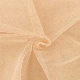 Tissu tulle pailleté Princesse - rose saumon x10cm