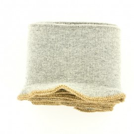 Organic Cotton Ribbed Cuffs (110x8cm) - grey gold