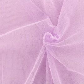 Tissu tulle pailleté Princesse - lilas x10cm