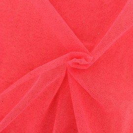 Luxury Sequined Tulle - strawberry x 10cm