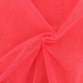 Tissu tulle pailleté Princesse - rose fraise x10cm