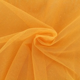 Luxury Sequined Tulle - mango x 10cm