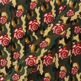 Ruban jacquard rose militaire 20 mm - forêt x 1m