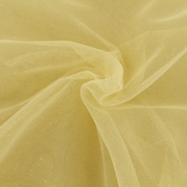 Luxury Sequined Tulle - vanilla ice x 10cm