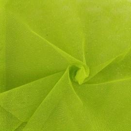Tissu tulle pailleté Princesse - citron vert x10cm