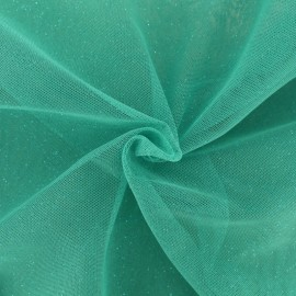 Luxury Sequined Tulle - teal x 10cm