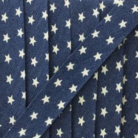 Biais jean Starlette 20 mm - bleu x 1m