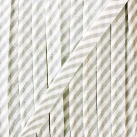 Passepoil grande rayure - gris x 1m