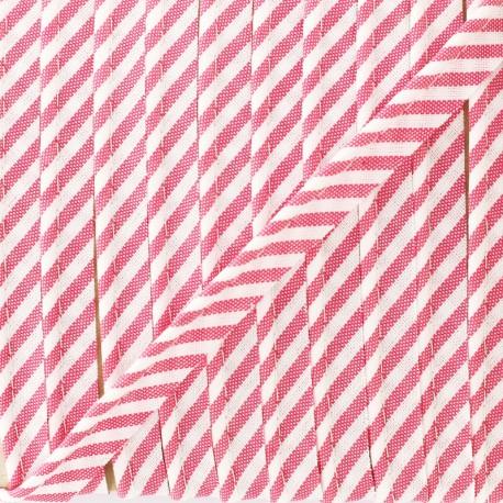 Large stripe piping - pink x 1m